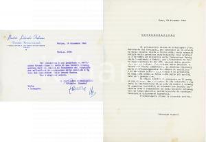 1962 TORINO Partito Liberale - Lettera Valerio ZANONE - AUTOGRAFO