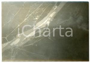 1916 WW1 FRONTE DELL'ISONZO - GRADISCA D'ISONZO - Fotografia aerea 17x12 cm