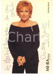 2005 ca Orietta BERTI cantante - Foto seriale con AUTOGRAFO 10x15 cm