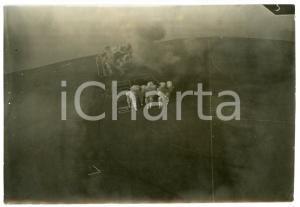 1916 WW1 Area di GORIZIA - Bombardamento e razzi - Foto aerea 18x13 cm