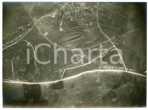 1916 WW1 FRONTE DEL CARSO - SGONICO Frazione BRISCIKI - Foto aerea 16x12 cm