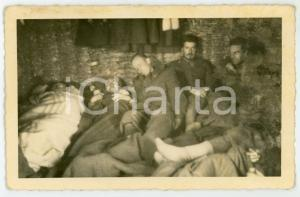 1943 WW2 ARMIR Campagna di RUSSIA - Soldati all'interno di un'isba - Foto 14x9