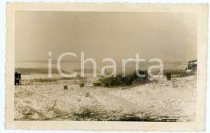 1943 WW2 ARMIR Campagna di RUSSIA - Soldati presso un'isba (2) Foto 14x9 cm