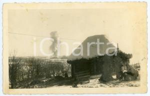 1943 WW2 ARMIR Campagna di RUSSIA - Soldati presso un'isba - Foto 14x9 cm