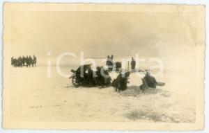 1943 WW2 ARMIR Campagna di RUSSIA - Artiglieria nella neve - Foto 14x9 cm