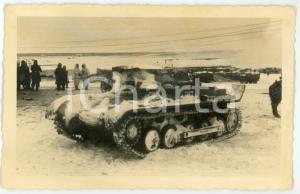 1943 WW2 ARMIR Campagna di RUSSIA - Carro armato congelato - Foto 14x9 cm