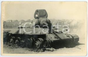 1943 WW2 ARMIR Campagna di RUSSIA - Carro armato in postazione *Foto 15x9