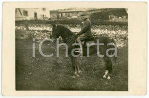 1910 ca REGIO ESERCITO Soldato a cavallo - Fotografia 13x8 cm