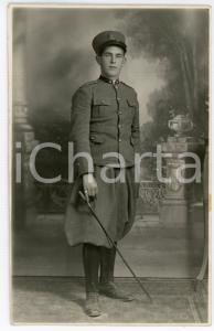1931 PIACENZA - REGIO ESERCITO Soldato con bastone - Fotografia 13x8 cm