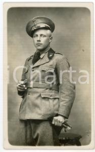 1930 ca REGIO ESERCITO Ufficiale con sigaretta e guanti - Fotografia 13x8 cm