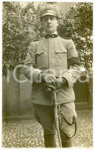 1920 ca REGIO ESERCITO Soldato con sciabola - Fotografia 13x8 cm