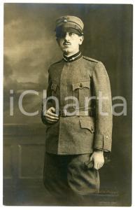 1920 ca COMO - REGIO ESERCITO Ritratto di un soldato - Fotografia E. MONTORFANO