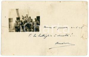 1916 WW1 156° Reggimento Fanteria - La bottiglia è vuota - Foto DANNEGGIATA