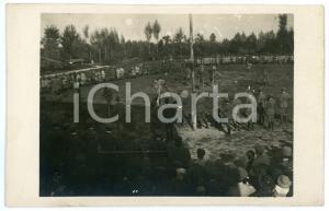 1920 ca CASTIONS DI STRADA 34° Reggimento Artiglieri -Gara sulle stampelle Foto