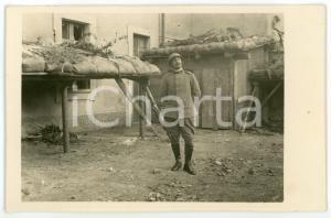 1915 ca WW1 - ARSIERO Soldato in posa tra i ripari austriaci - Foto 13x8 cm