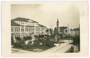 1915 ca THIENE (VI) Piazza delle scuole e Municipio - Foto 13x8 cm (1)