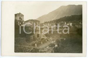 1915 ca WW1 - VELO D'ASTICO Panorama del paese bombardato - Foto 13x8
