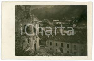1915 ca WW1 - VELO D'ASTICO Rovine della chiesa bombardata - Foto 13x8