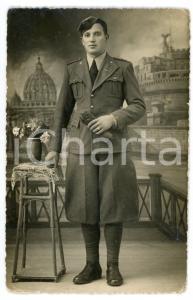 1935 ca ROMA Ritratto di un soldato - Foto Cav. C. TIBALDI