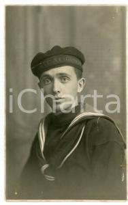 1921 TARANTO REGIA MARINA Marinaio della nave da battaglia DANTE ALIGHIERI Foto