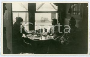 1941 WW2 - CORIZA (ALBANIA) Mensa ufficiali - Fotografia 13x8 cm