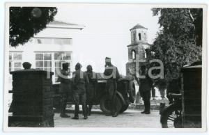1941 WW2 - AGIA - TESSAGLIA (GRECIA) Ufficiali davanti alla mensa - Foto 13x8