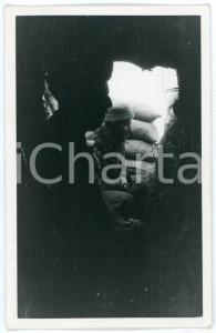1941 WW2 ALBANIA Valle Skumini - Soldati nel rifugio durante bombardamento Foto