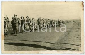 1940 ca WW2 - ARMIR Campagna di Russia - Soldati in marcia - Foto 13x 8 cm