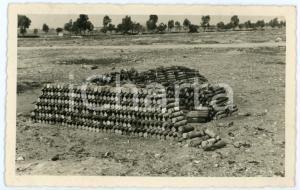 1940 ca WW2 - Campagna di Russia - Catasta di proiettili di mortaio - Foto 13x 8