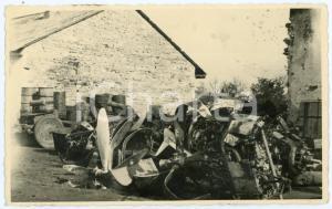 1935 ca WW2 - ITALIA Rottami di un aereo abbattuto - Fotografia 13x8 cm