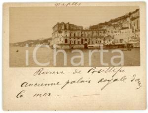 1910 ca NAPOLI Via Posillipo - Palazzo Donn'Anna - Foto albumina 11x9 cm