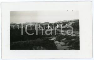 1930 ca FERROVIE Costruzione viadotto fiume STURA - Linea TORINO-VENTIMIGLIA
