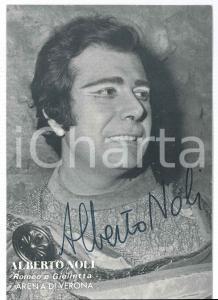 1980 ca LIRICA Alberto NOLI baritono - Foto con AUTOGRAFO 10x14 cm