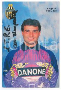 1995 ca CALCIO JUVENTUS Angelo PERUZZI portiere - Cartolina con AUTOGRAFO