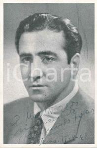 1949 LIRICA - VERONA - Baritono Raimondo TORRES - Foto AUTOGRAFO 9x14 cm