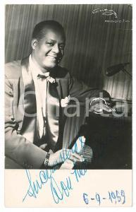 1959 MADRID Jazz pianist - SIGNED photo 9x14 cm