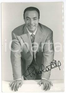 1955 ca Gino LATILLA cantante - Foto con AUTOGRAFO 10x15 cm