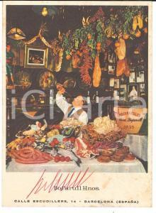 1965 ca BARCELONA Restaurante LOS CARACOLES *Postal firmada hermanos BOFARULL