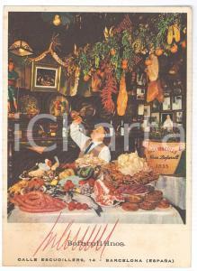 1965 ca BARCELONA Restaurante LOS CARACOLES - Postal firmada hermanos BOFARULL