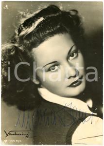 1940 ca CINEMA Attrice Maria DENIS - Foto con AUTOGRAFO 15x21 cm
