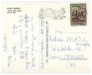 1975 Pittore Egidio MARULLI Salici nella lanca - Cartolina AUTOGRAFA