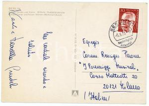 1973 BERLINO Pianista Marcella CRUDELI - Cartolina AUTOGRAFO