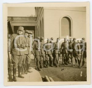 Gennaio 1916 WW1 PADOVA Gruppo di ufficiali in caserma - Foto 9x9 cm
