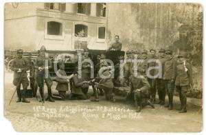 1926 ROMA 13° Reggimento Artiglieria - 7^ Batteria - 2^ Squadra FOTO DANNEGGIATA