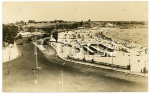 1900 ca MONTEVIDEO (URUGUAY) Spiaggia con stabilimenti balneari - Foto 14x9 cm