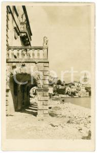 1925 ca PERAST (MONTENEGRO) View with Palace Zmajevic - Venetian lion  - Photo