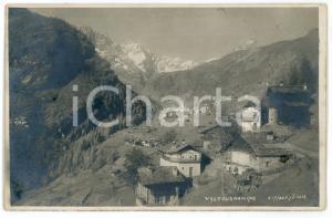 1918 VALTOURNANCHE (VALLE D'AOSTA) Panorama - Foto cartolina J. NEER RPPC