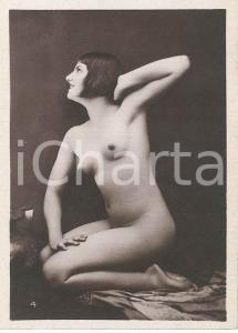 1930 ca EROTICA VINTAGE Nude woman with bob haircut - Photo 6x9 cm