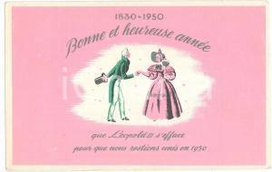 1950 BELGIQUE Bonne Année - Que Léopold III s'efface - Carte postale