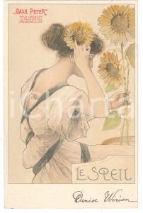 1904 ART NOUVEAU Chocolat GALA PETER - Le Speil - Carte Postale